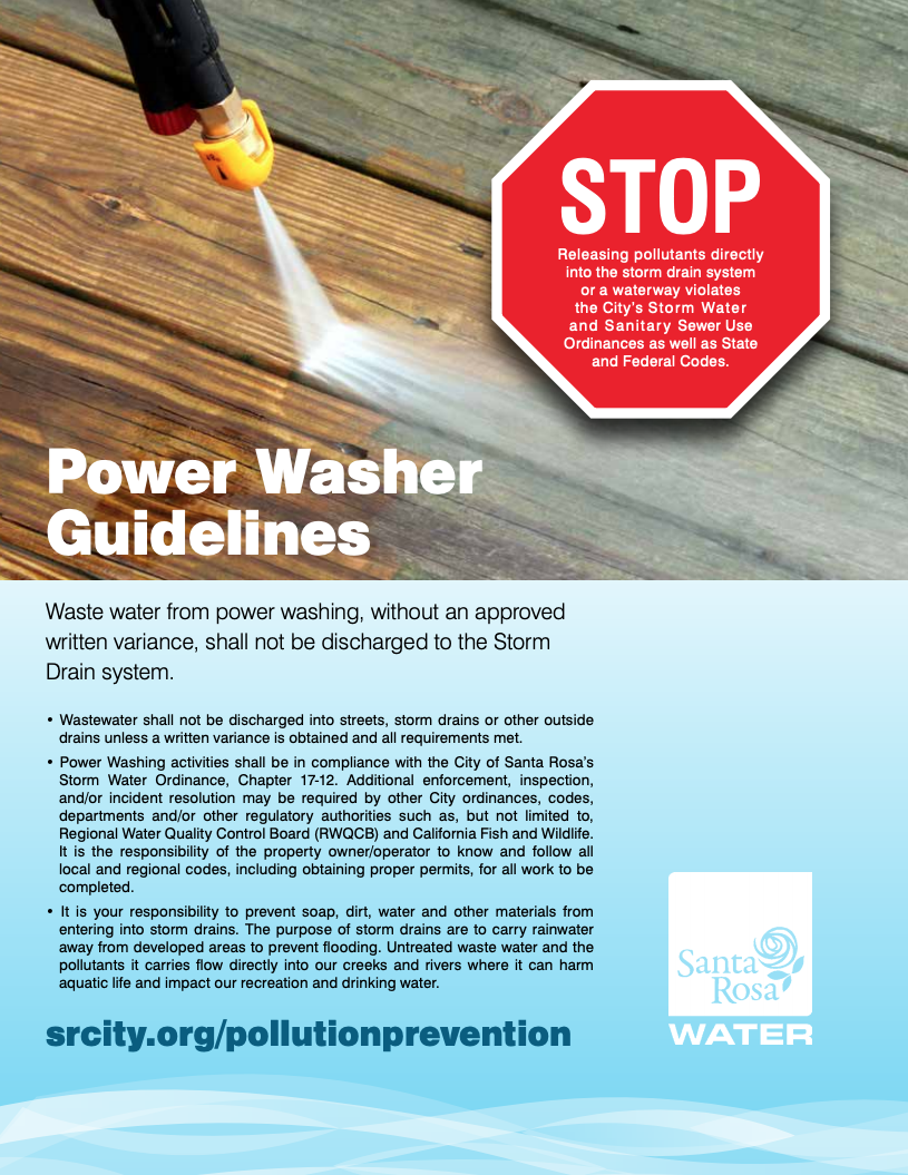 Power Washer Guidelines